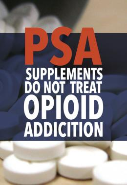 Supplements do not treat opioid addiction