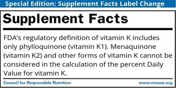 Supplement Fact: Label Change Fact | Council for Responsible